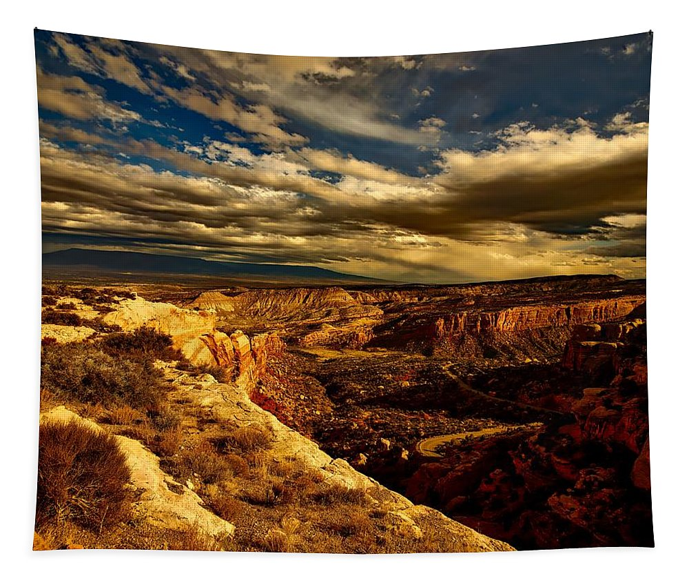 Colorado Tapestry featuring the photograph Sunset Clouds by Mountain Dreams