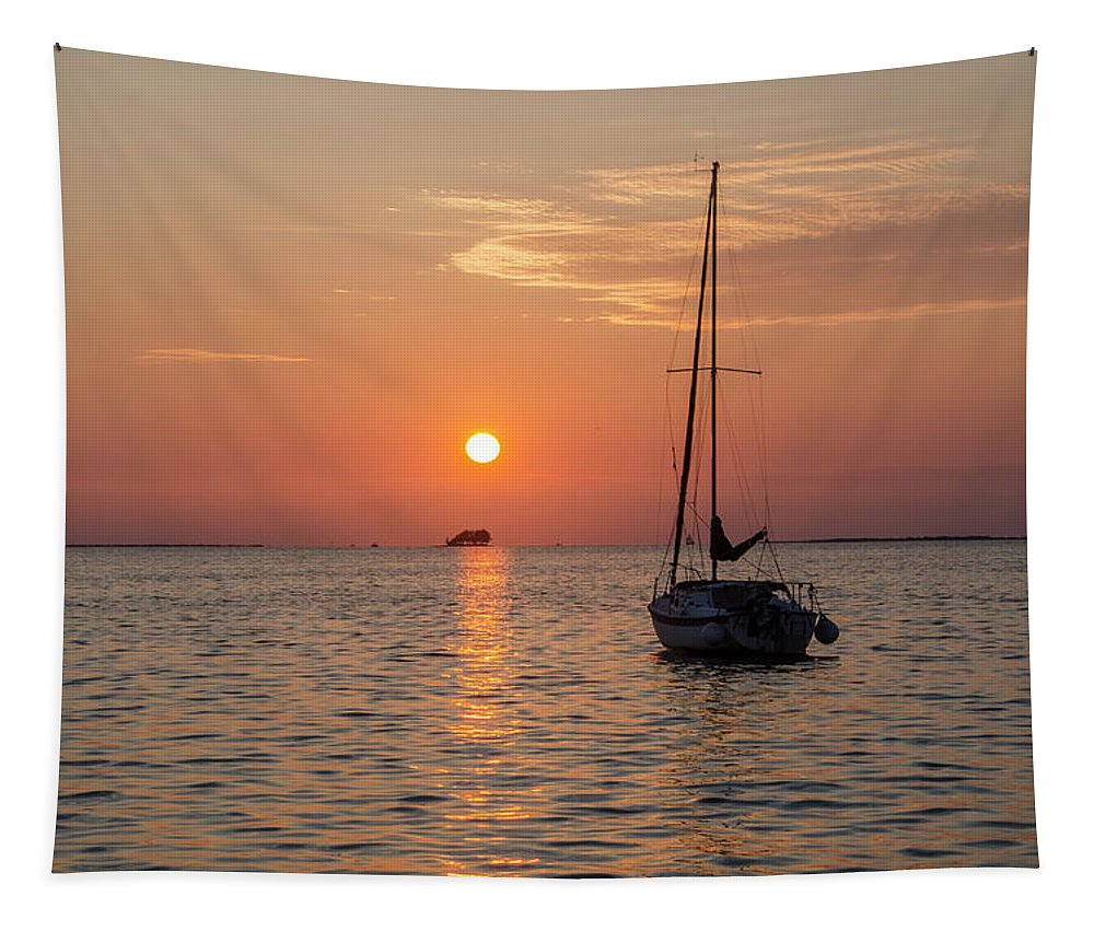 Sunset Tapestry featuring the photograph Sunset Dreams - Florida by Bill Cannon