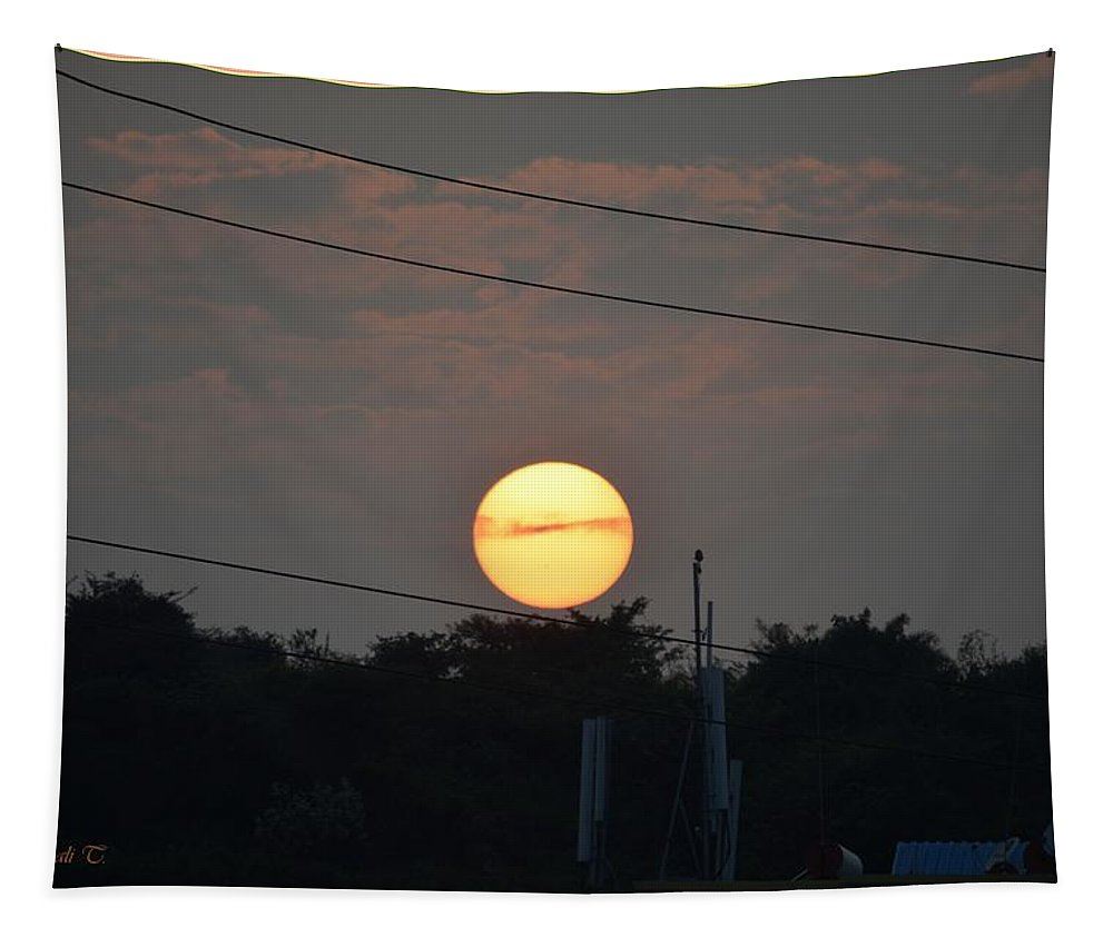 Sunset Tapestry featuring the photograph Sunset Moment by Sonali Gangane