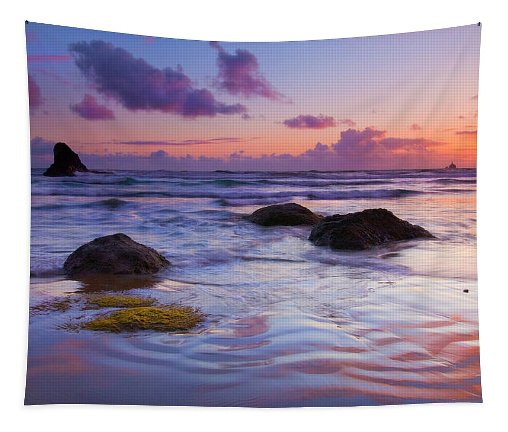 Sunset Tapestry featuring the photograph Sunset Ripples by Mike Dawson
