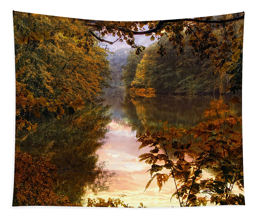 Nature Tapestry featuring the photograph Sunset River View by Jessica Jenney
