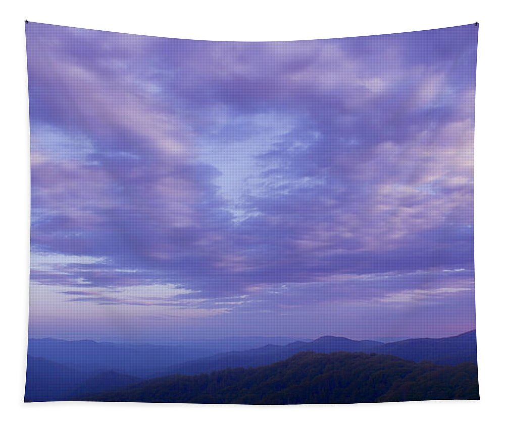 Sunset Tapestry featuring the photograph Sunset - Smoky Mountains by Nikolyn McDonald