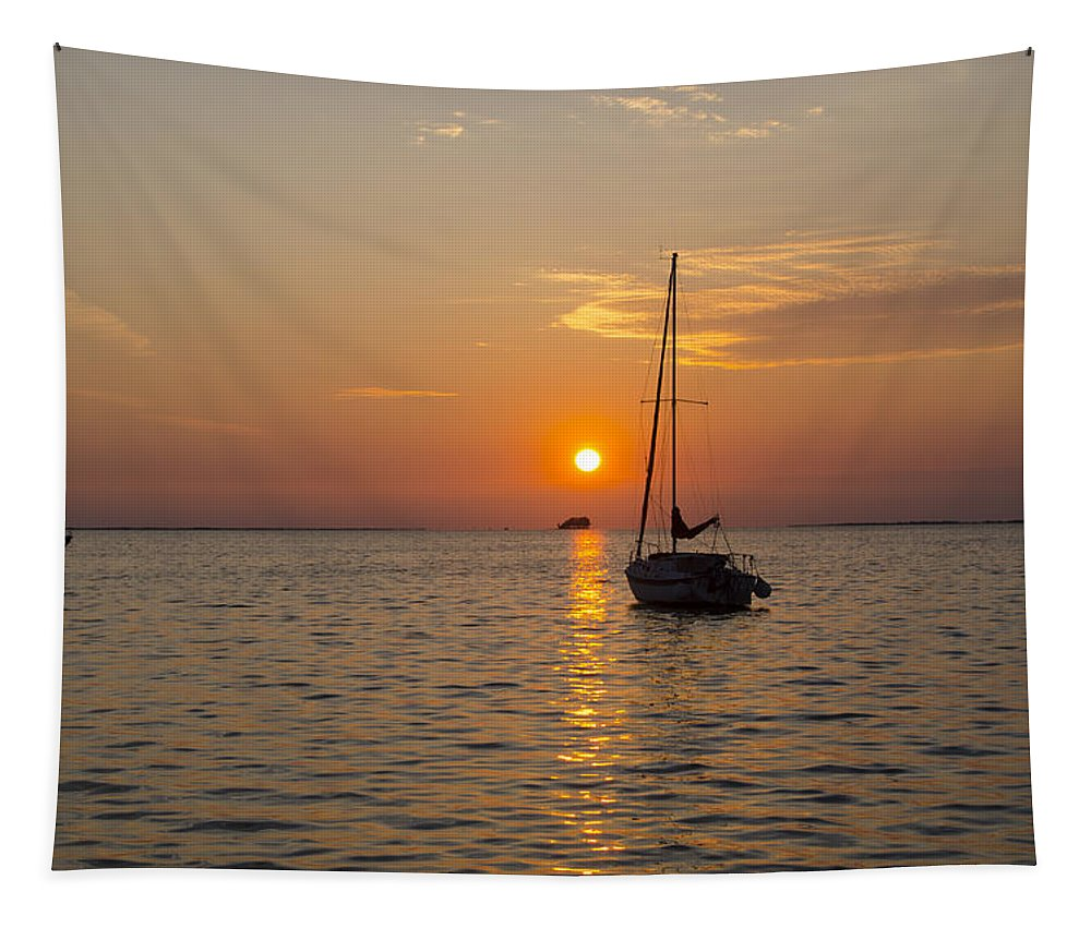 Sunset Tapestry featuring the photograph Sunset Southern Style by Bill Cannon