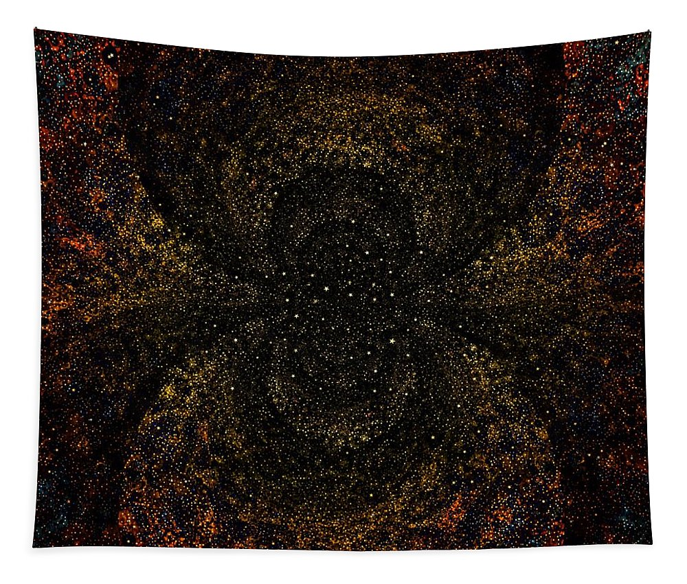 Stars Tapestry featuring the digital art Sunset Starlight by Nick Heap