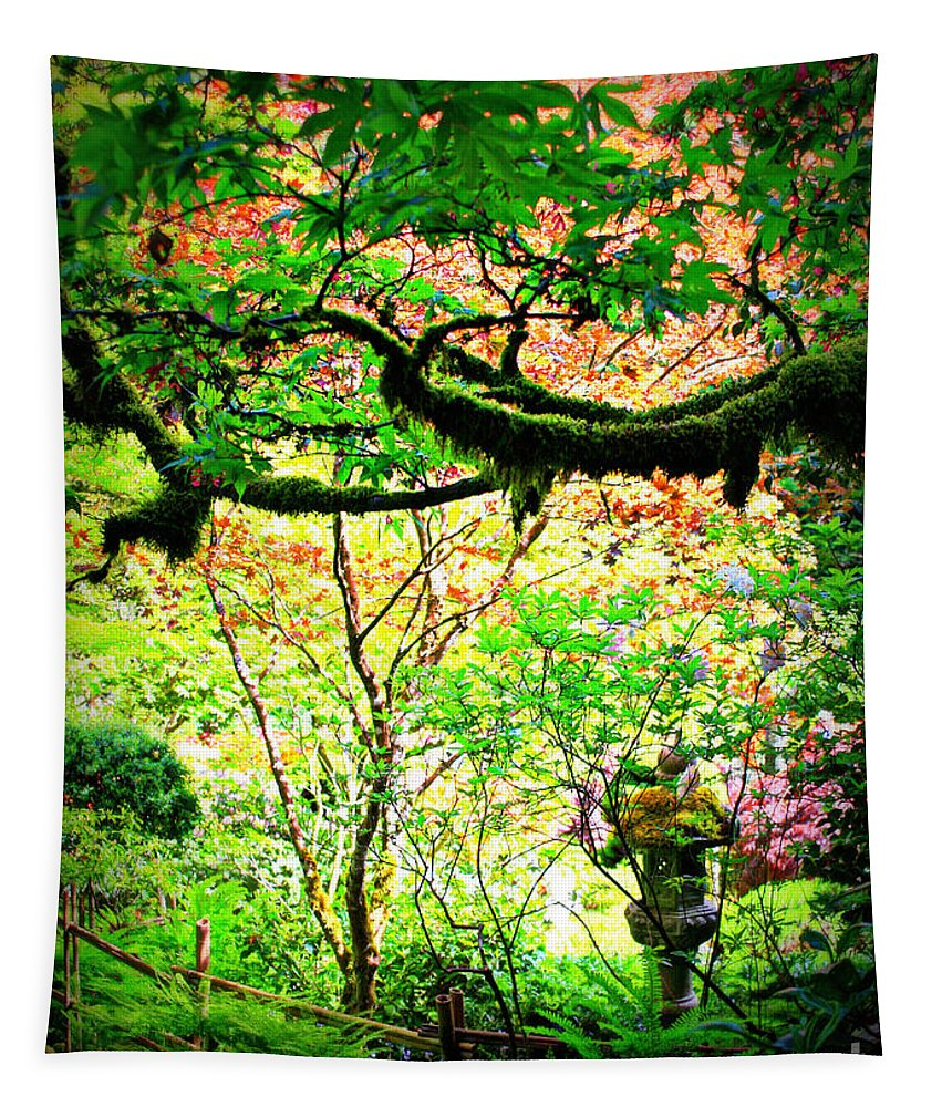 Sunny Garden Tapestry featuring the photograph Sunshine In The Garden by Carol Groenen