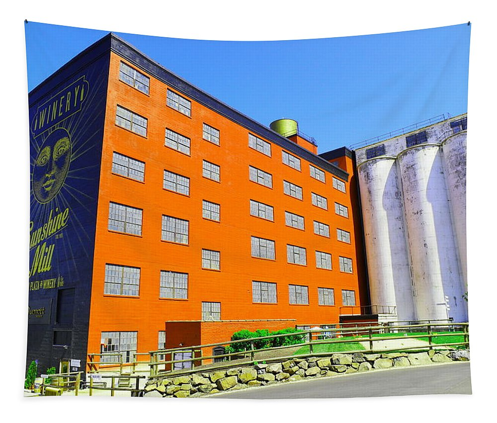Building Tapestry featuring the photograph Sunshine Mill Winery The Dallas Oregon by Jeff Swan
