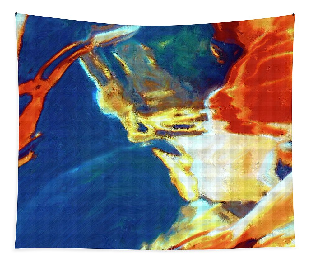 Abstract Tapestry featuring the painting Sunspot by Dominic Piperata