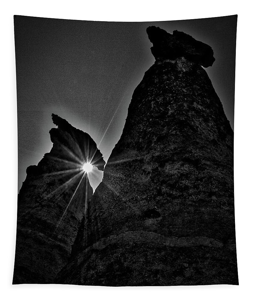 New Mexico Tapestry featuring the photograph Sunstar At Tent Rocks by Stuart Litoff