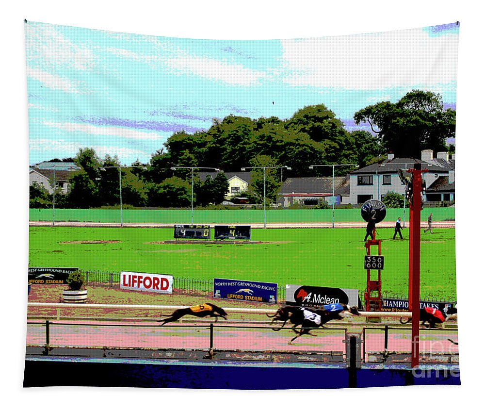 Sports Tapestry featuring the digital art Superfine Paddy by Eddie Barron
