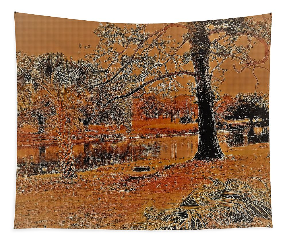 Photography Tapestry featuring the digital art Surreal Langan Park 2 - Mobile Alabama by Marian Bell