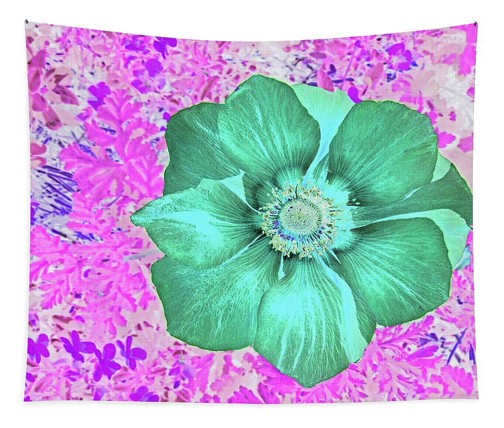 Poppy Tapestry featuring the digital art Surreal Poppy by Marian Bell