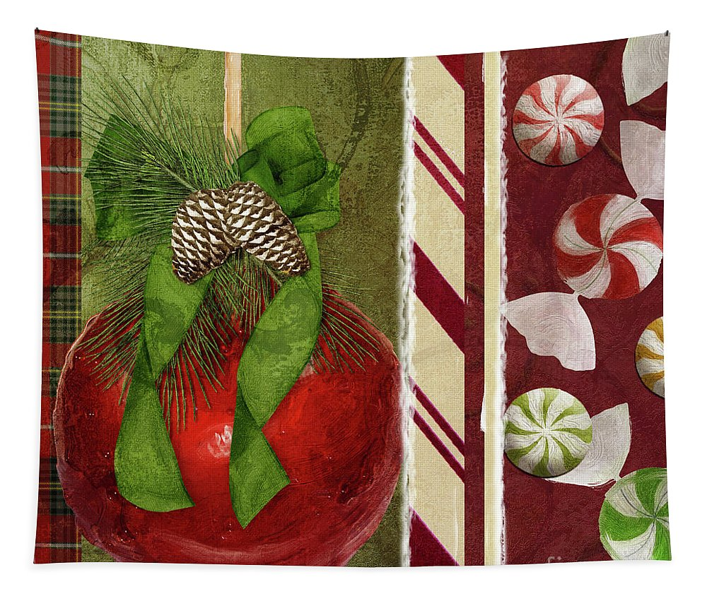 Christmas Tapestry featuring the painting Sweet Holiday II by Mindy Sommers