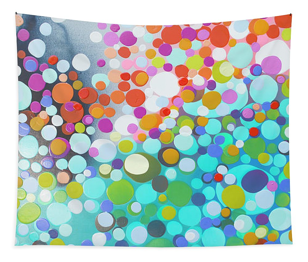 Abstract Tapestry featuring the painting Sweet Thing by Claire Desjardins