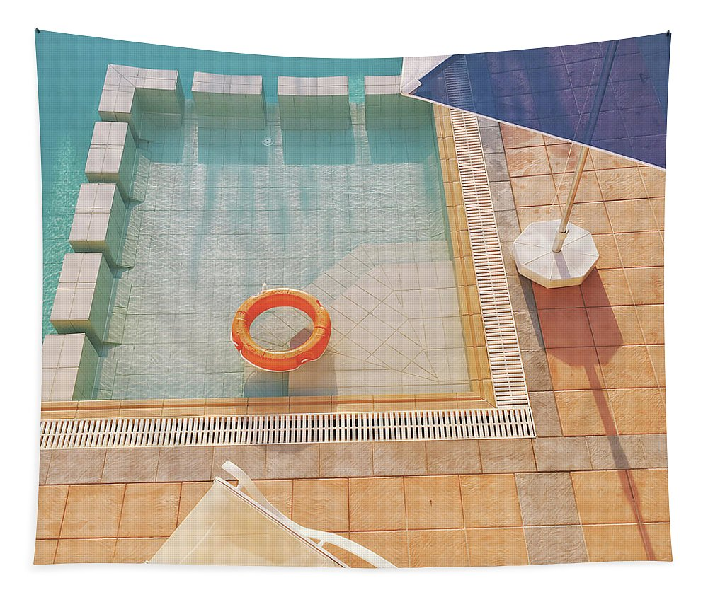 Water Tapestry featuring the photograph Swimming Pool by Cassia Beck