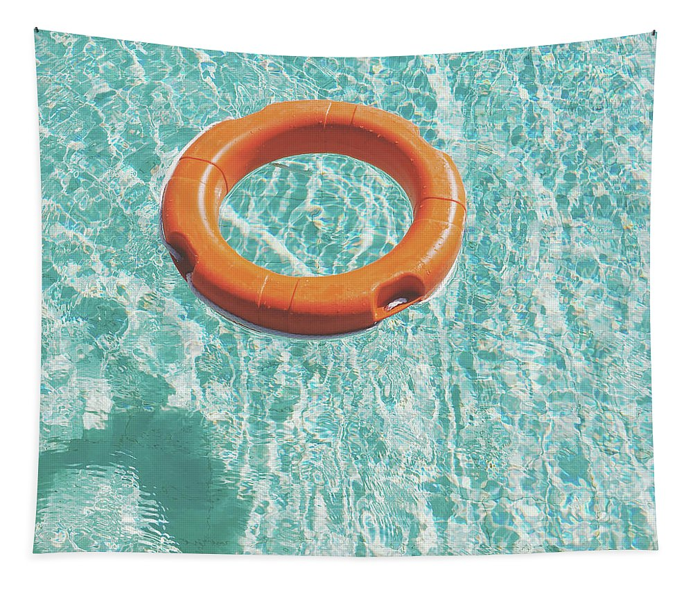 Water Tapestry featuring the photograph Swimming Pool IIi by Cassia Beck