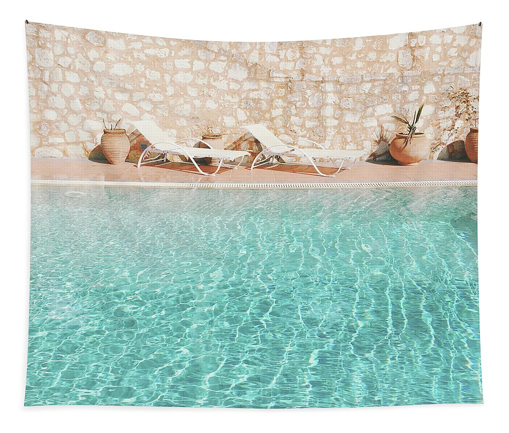 Water Tapestry featuring the photograph Swimming Pool V by Cassia Beck