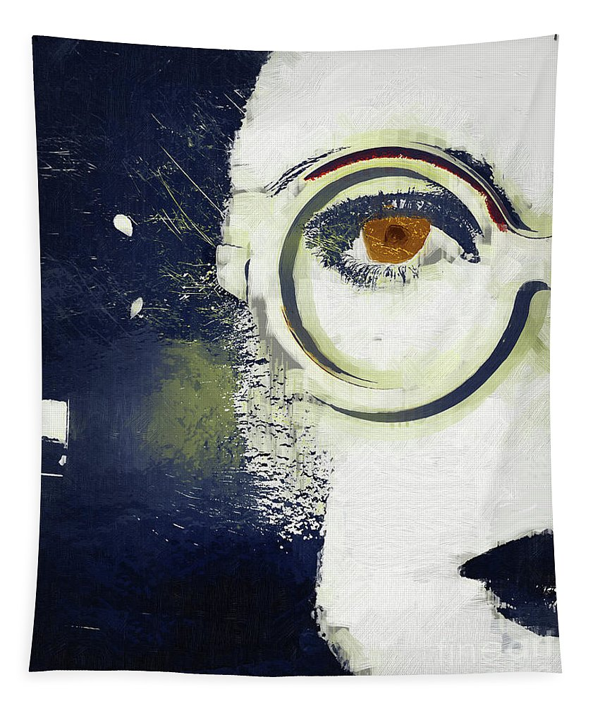 Fashion Tapestry featuring the painting Sylvia by Mindy Sommers