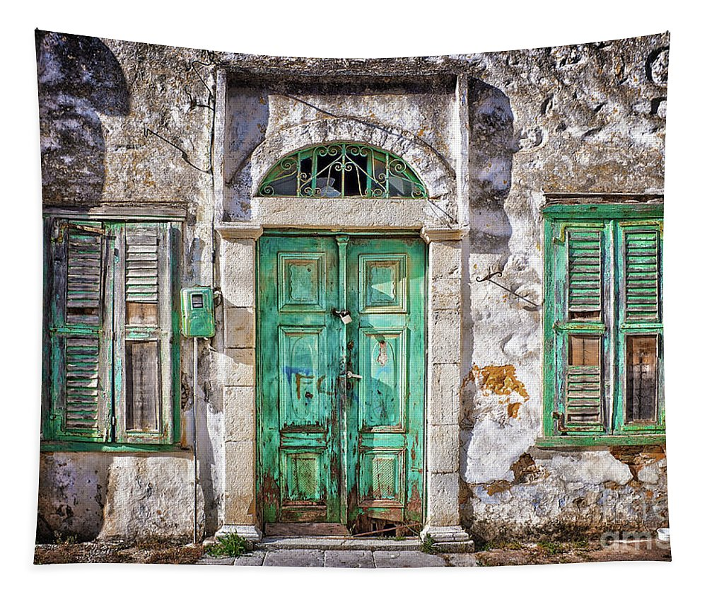 Travel Tapestry featuring the photograph Symi by Delphimages Photo Creations