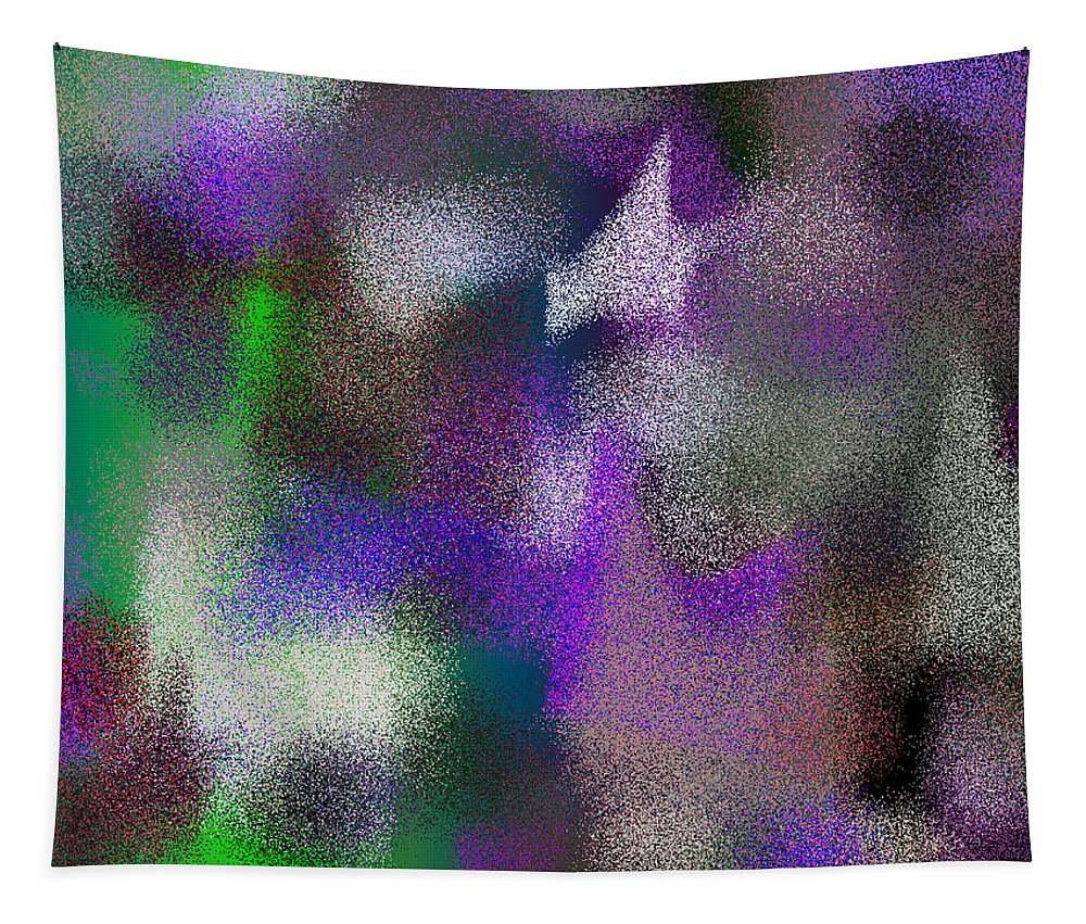 Abstract Tapestry featuring the digital art T.1.345.22.4x3.5120x3840 by Gareth Lewis
