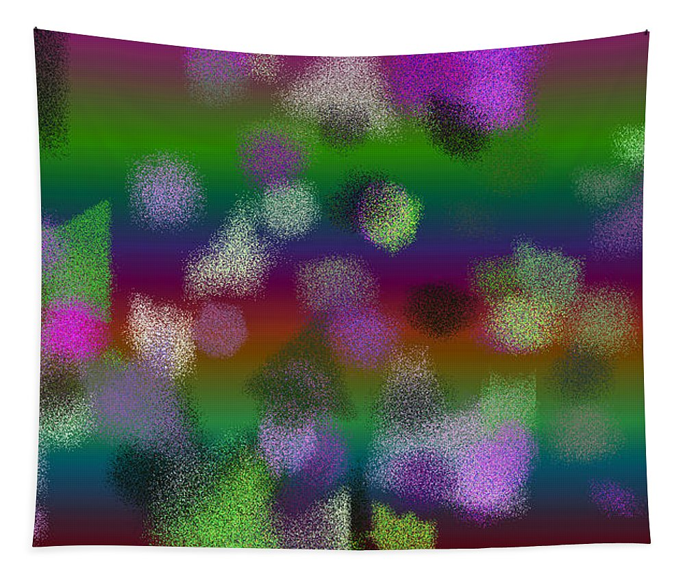 Abstract Tapestry featuring the digital art T.1.368.23.16x9.9102x5120 by Gareth Lewis