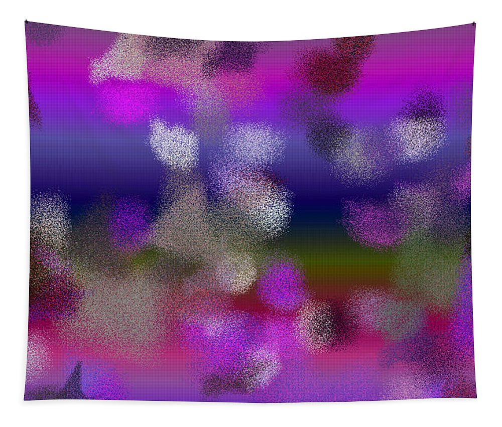 Abstract Tapestry featuring the digital art T.1.400.25.16x9.9102x5120 by Gareth Lewis