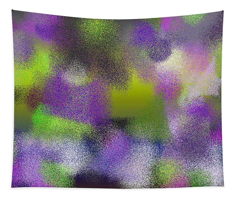 Abstract Tapestry featuring the digital art T.1.889.56.4x3.5120x3840 by Gareth Lewis