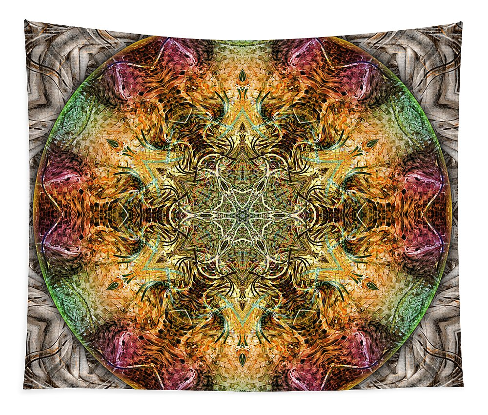 Mandalas From Trash Tapestry featuring the digital art Ripstop Roulette by Becky Titus