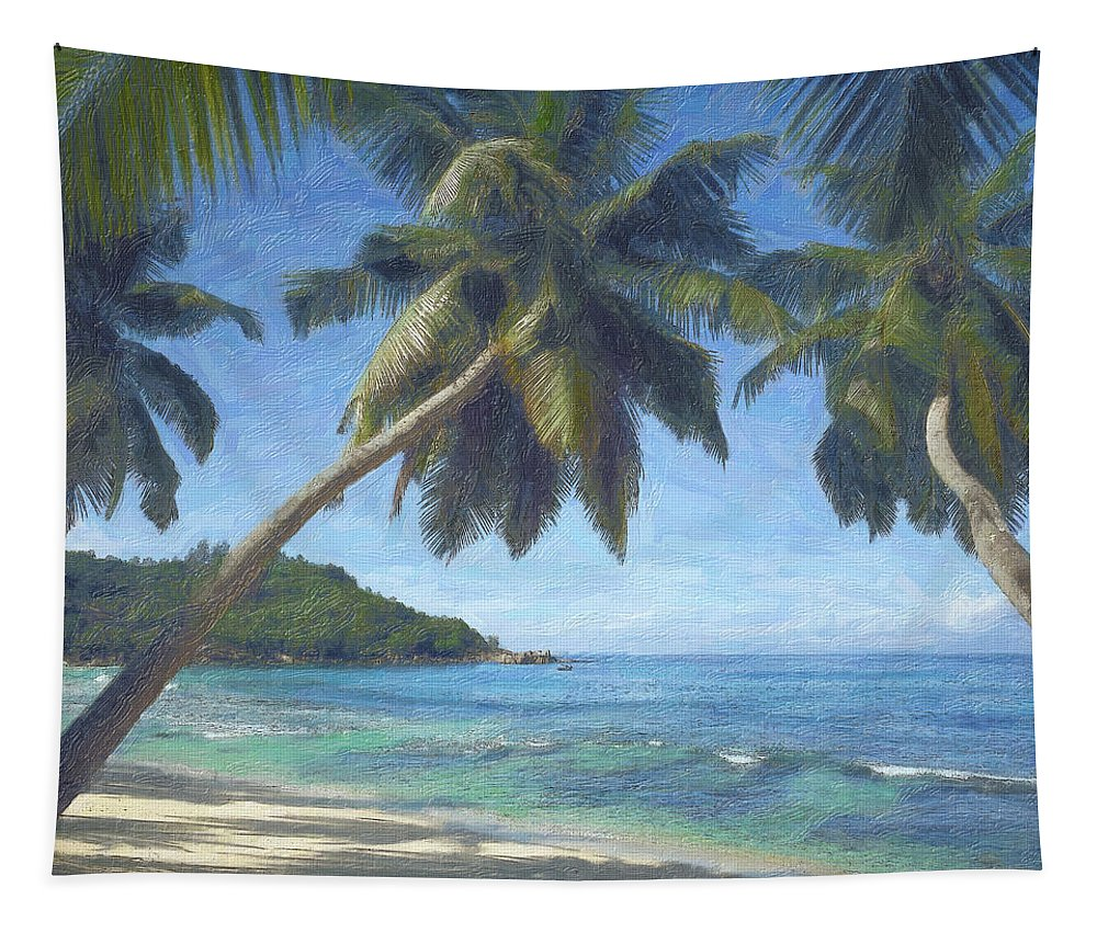 Palms Tapestry featuring the photograph Takamaka Palms by Mikehoward Photography