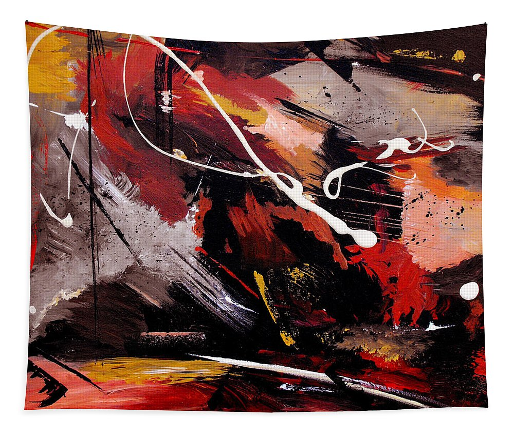 Abstract Tapestry featuring the painting Take To Heart by Ruth Palmer