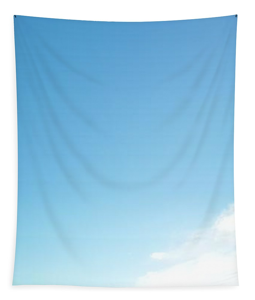 Tapestry featuring the photograph Tall Blue Sky by Uther Pendraggin