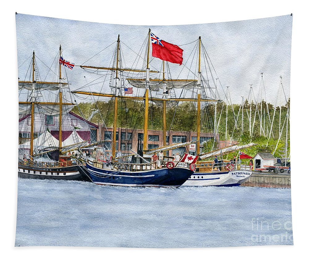 Niagara Tapestry featuring the painting Tall Ships Festival by Melly Terpening