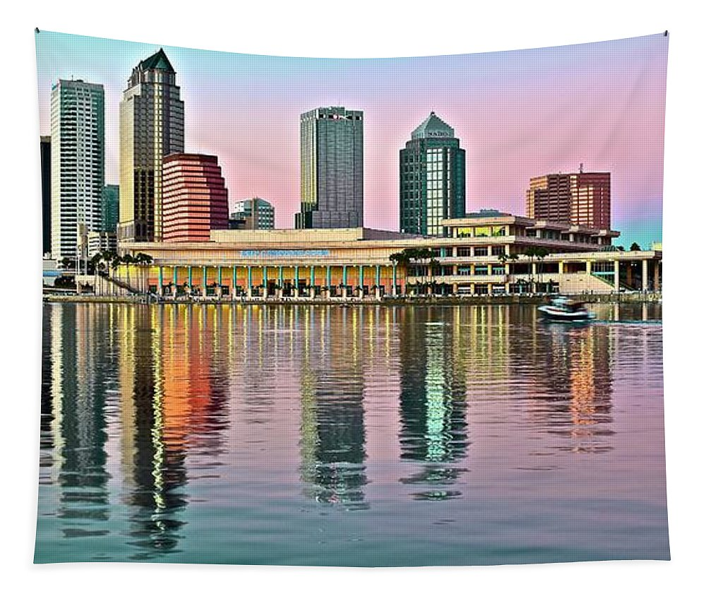 Tampa Tapestry featuring the photograph Tampa Elongated by Frozen in Time Fine Art Photography