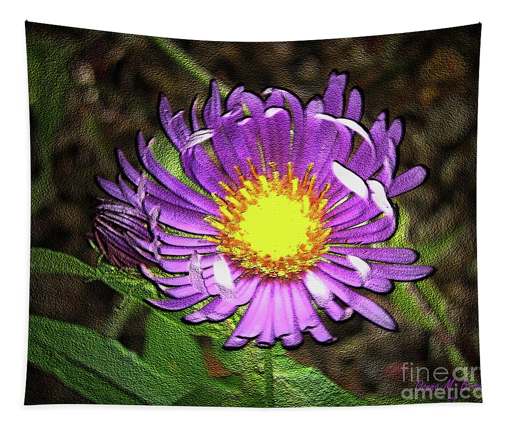 Flower Tapestry featuring the photograph Tansyleaf Aster by Donna Brown