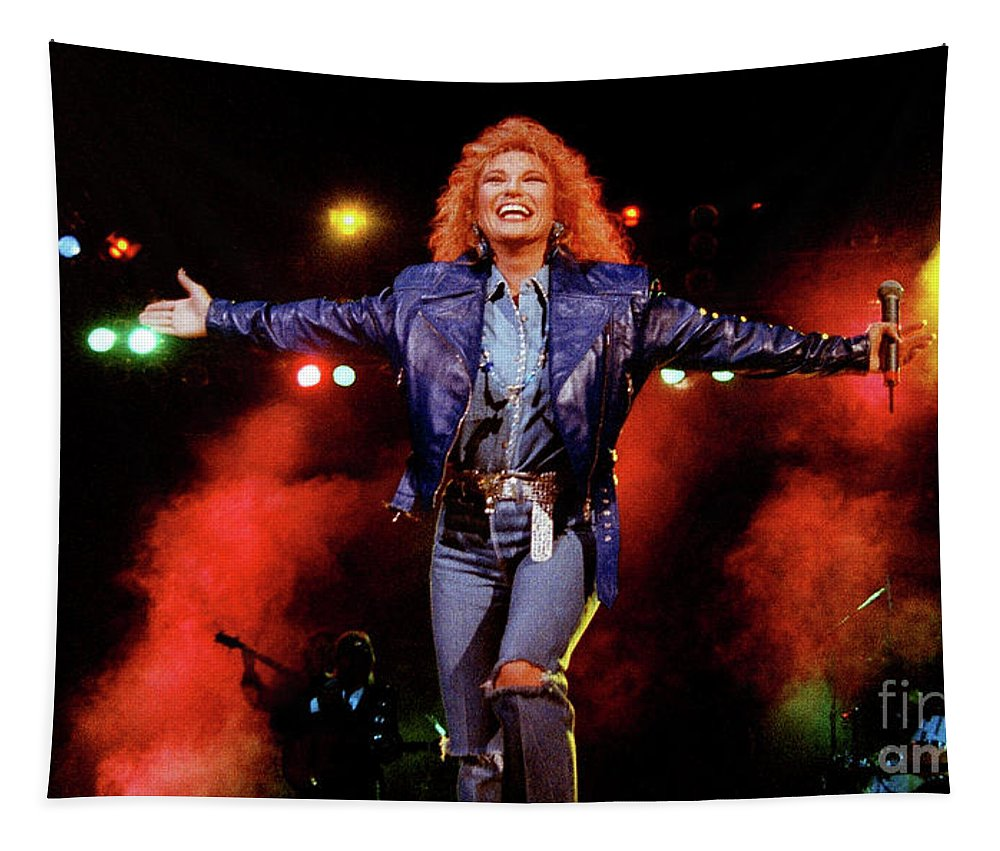 Tanya Tucker Tapestry featuring the photograph Tanya Tucker-93-0678 by Timothy Bischoff