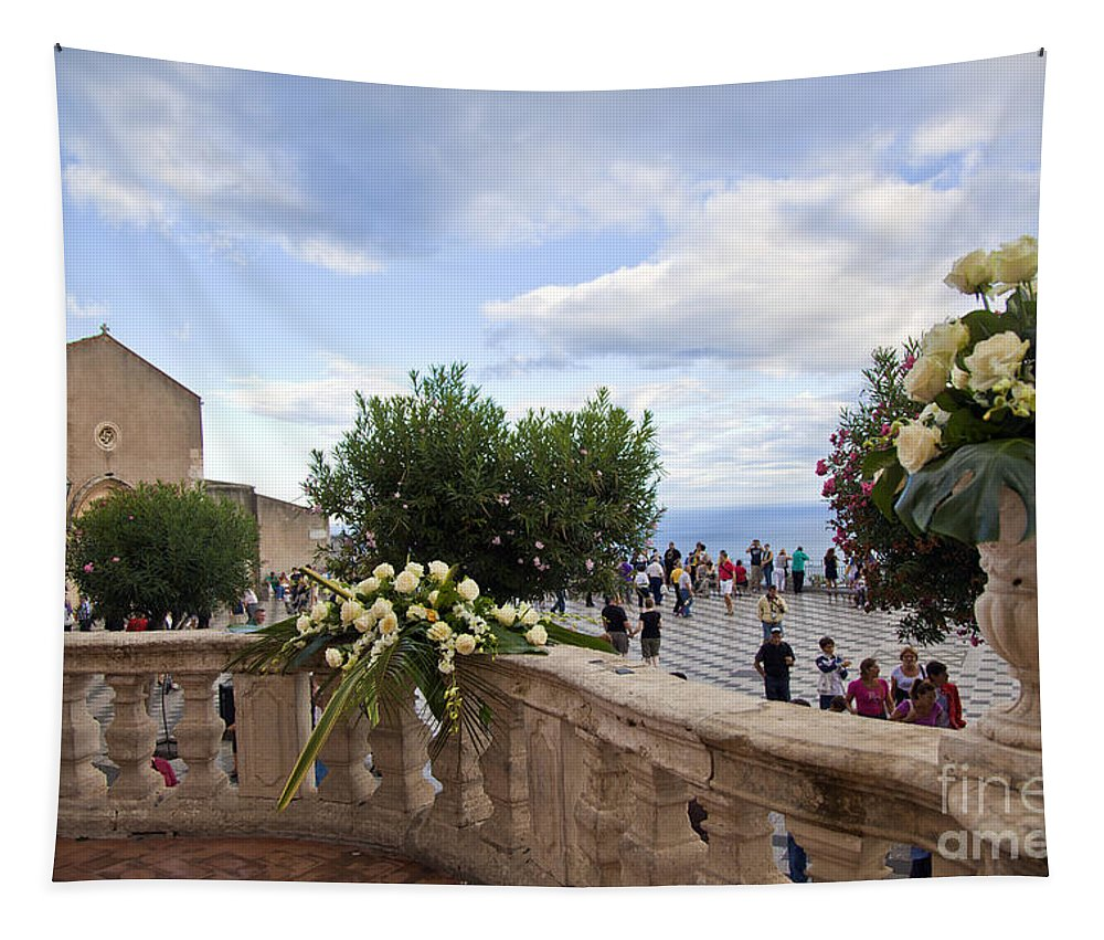 Taormina Tapestry featuring the photograph Taormina Square by Madeline Ellis