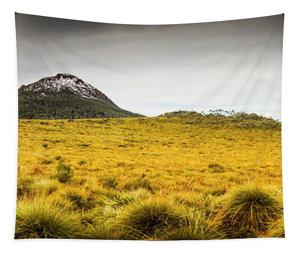 Country Tapestry featuring the photograph Tasmania Mountains Of The East-west Great Divide by Jorgo Photography - Wall Art Gallery
