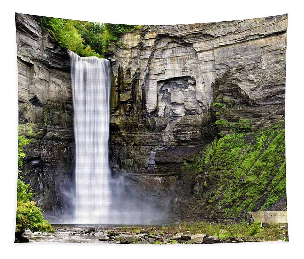 Taughannock Falls State Park Tapestry featuring the photograph Taughannock Falls Gorge by Christina Rollo