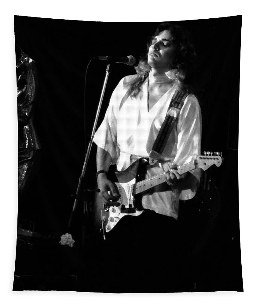 Tommy Bolin Tapestry featuring the photograph Tb76#9 Crop 2 by Ben Upham