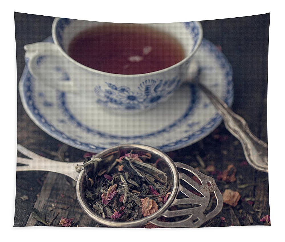Tea Tapestry featuring the photograph Tea Time 8286 by Teresa Wilson