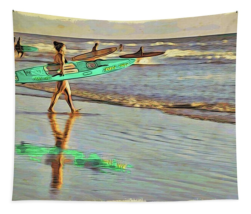 Alicegipsonphotographs Tapestry featuring the photograph Teal Reflections by Alice Gipson