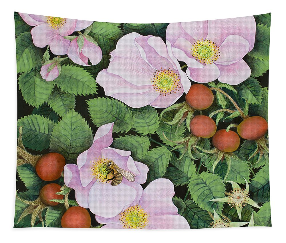 Bee Tapestry featuring the painting Team Work by Pat Scott