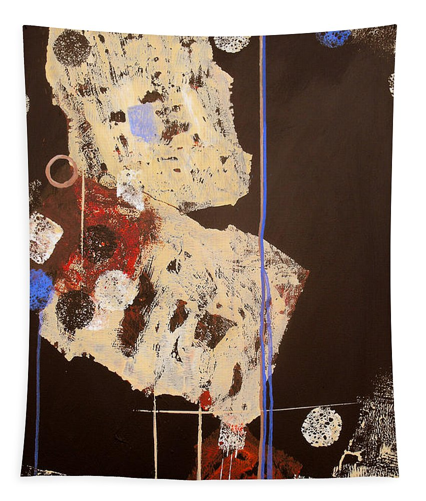 Abstract Tapestry featuring the painting Teeter by Ruth Palmer