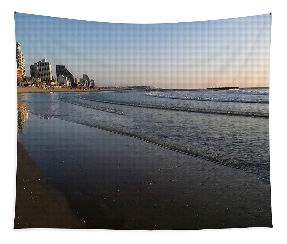 Cityscape Tapestry featuring the photograph Tel Aviv Beach by Mary Lane