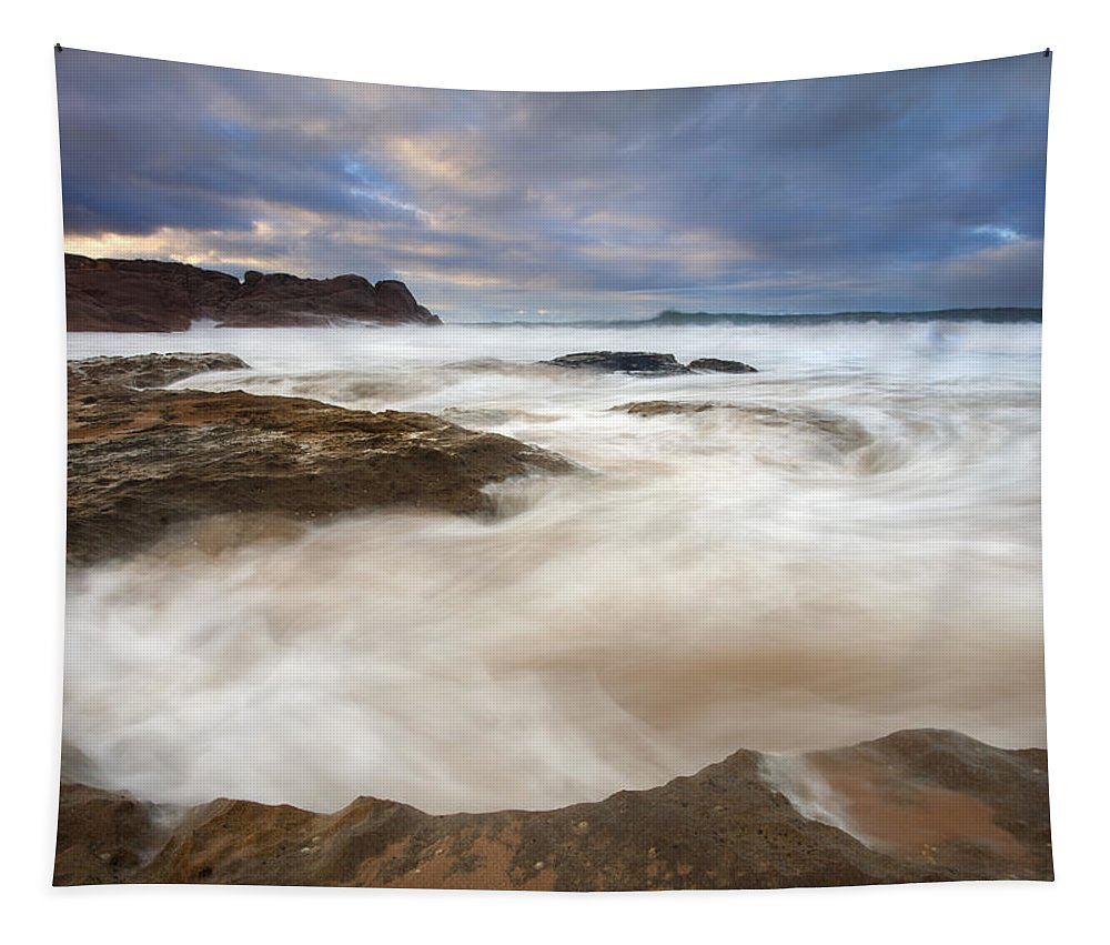 Bowl Tapestry featuring the photograph Tempestuous Sea by Mike Dawson