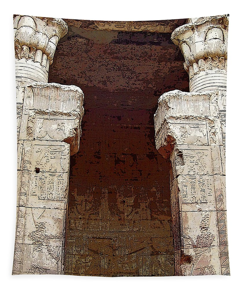 Edfu Tapestry featuring the photograph Temple Of Edfu I by Debbie Oppermann
