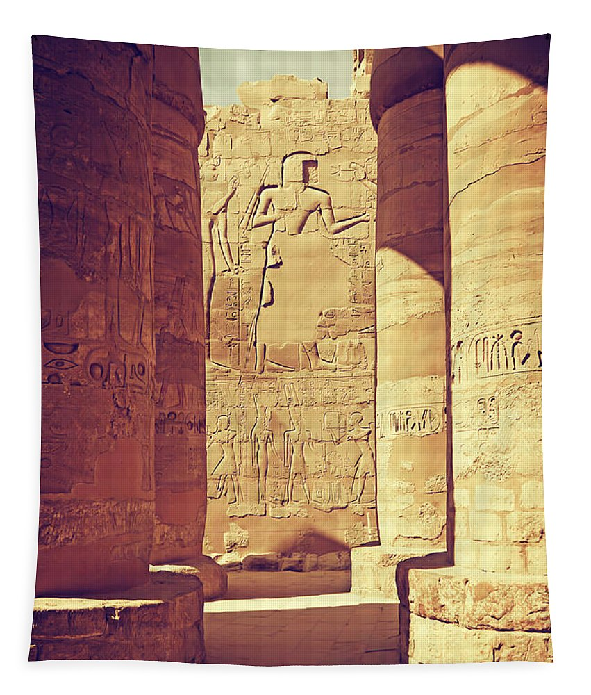 Africa Tapestry featuring the photograph Temples Of Karnak by Jaroslav Frank