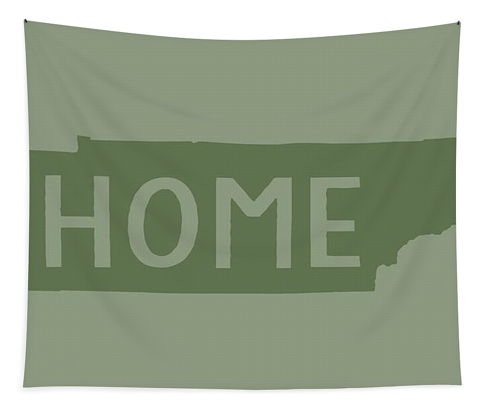 Tenneessee Tapestry featuring the digital art Tennessee Home Green by Heather Applegate