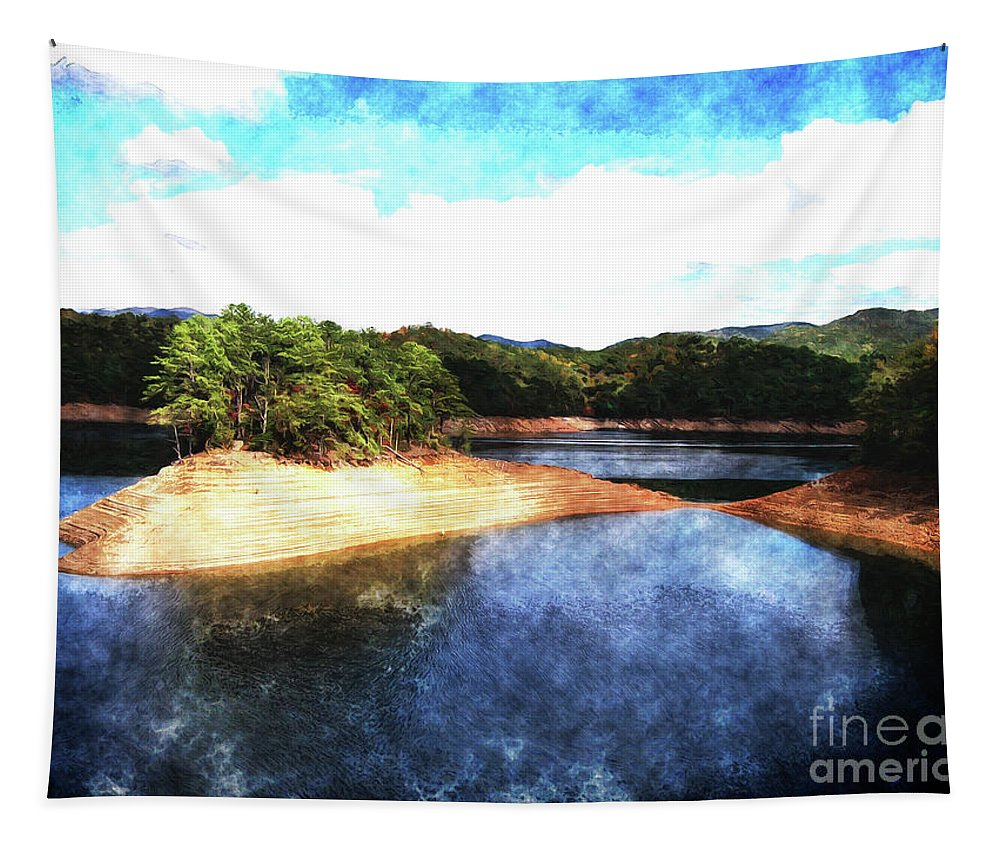 Tennessee Tapestry featuring the photograph Tennessee Reservoir by Phil Perkins