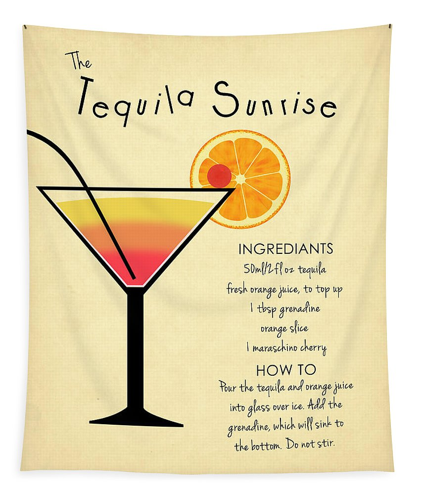 Tequila Sunrise Tapestry featuring the photograph Tequila Sunrise by Mark Rogan