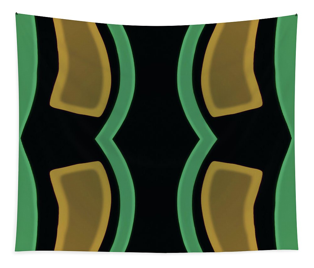 Tapestry featuring the photograph Test Green Tan Black by Heather Joyce Morrill